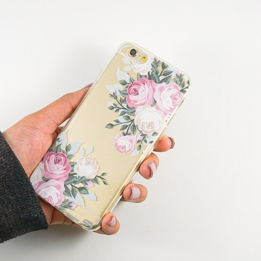 Vintage Roses - Clear TPU Case Cover