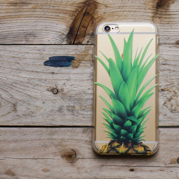 Pineapple Head - Clear TPU Case Cover - Milkyway Cases -  iPhone - Samsung - Clear Cut Silicone Phone Case Cover