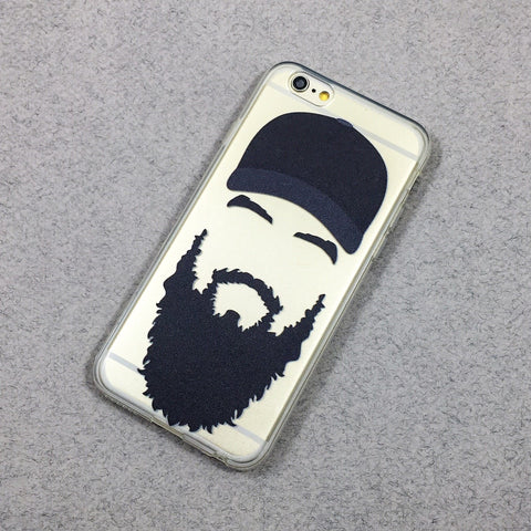 Man Beard - Clear TPU Case Cover