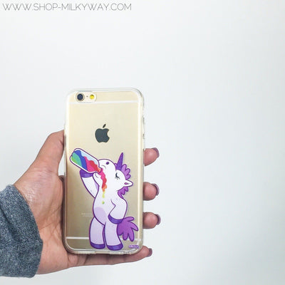 Drunk Unicorn - Clear TPU Case Cover - Milkyway Cases -  iPhone - Samsung - Clear Cut Silicone Phone Case Cover