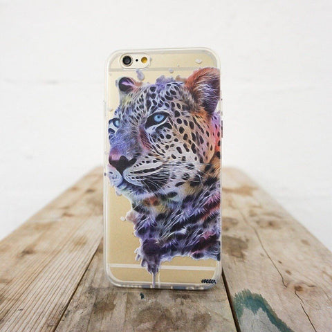 Dripping Leopard - Clear TPU Case Cover