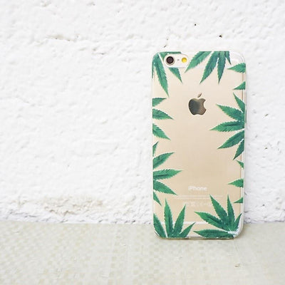 Weed Frame - Clear TPU Case Cover - Milkyway Cases -  iPhone - Samsung - Clear Cut Silicone Phone Case Cover