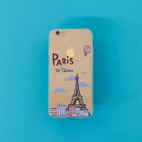Je T'aime Paris - Clear TPU Case Cover