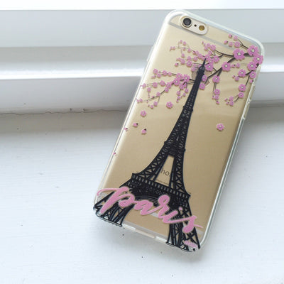 Paris - Clear TPU Case Cover - Milkyway Cases -  iPhone - Samsung - Clear Cut Silicone Phone Case Cover
