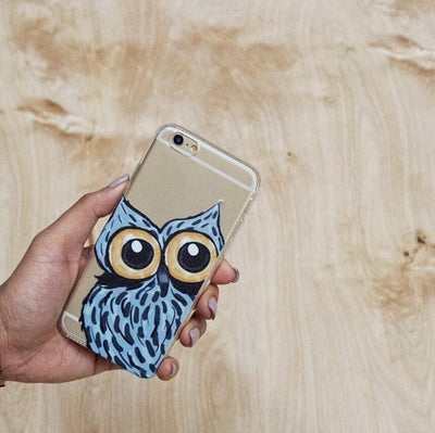 Peeking Owl - Clear TPU Case Cover - Milkyway Cases -  iPhone - Samsung - Clear Cut Silicone Phone Case Cover