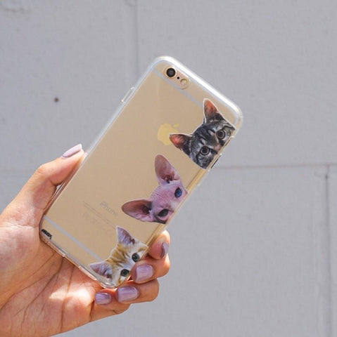 Peeking Cats - Clear TPU Case Cover