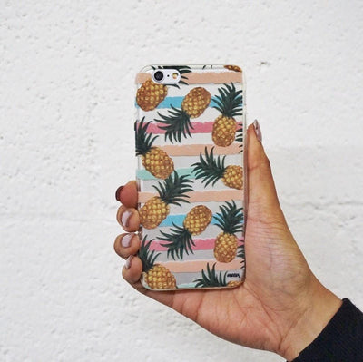 Summertime Pineapple - Clear TPU Case Cover - Milkyway Cases -  iPhone - Samsung - Clear Cut Silicone Phone Case Cover