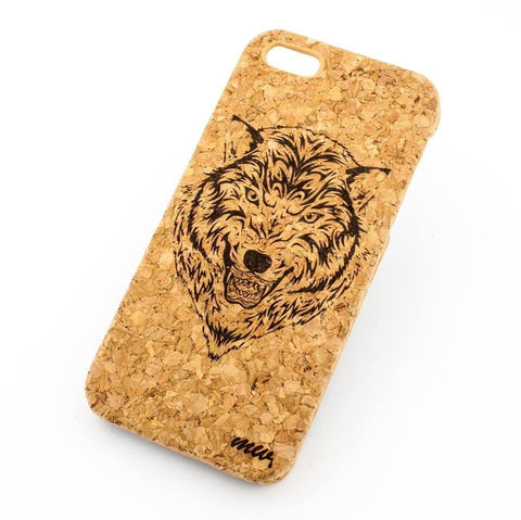 Cork Case Snap On Cover - HUSKY WOLF