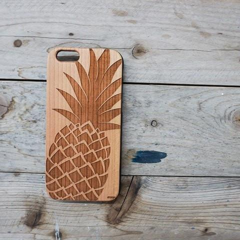 Black Bamboo Wood Case - Big Pineapple