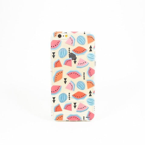 Geometric Watermelon - Clear TPU Case Cover