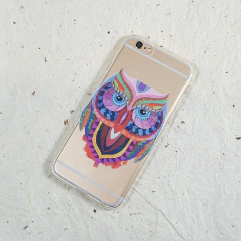 Krisostomo Owl - Clear TPU Case Cover