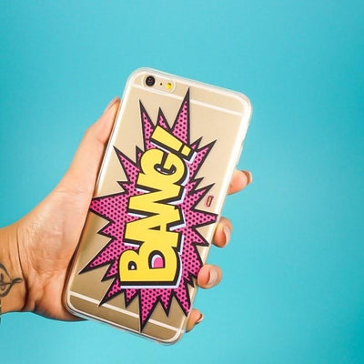 Bang - Clear TPU Case Cover - Milkyway Cases -  iPhone - Samsung - Clear Cut Silicone Phone Case Cover