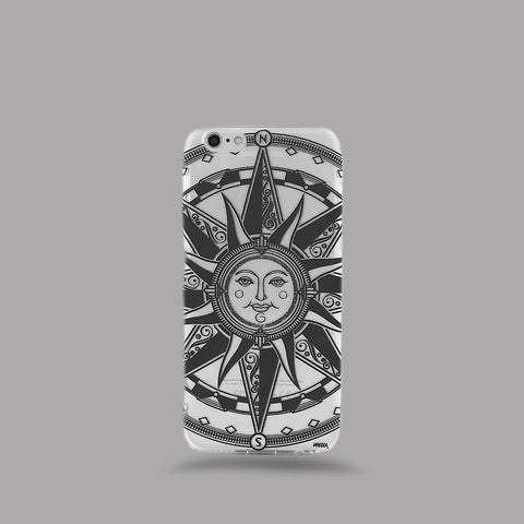 Compass Tribal Sun - Clear TPU Case Cover