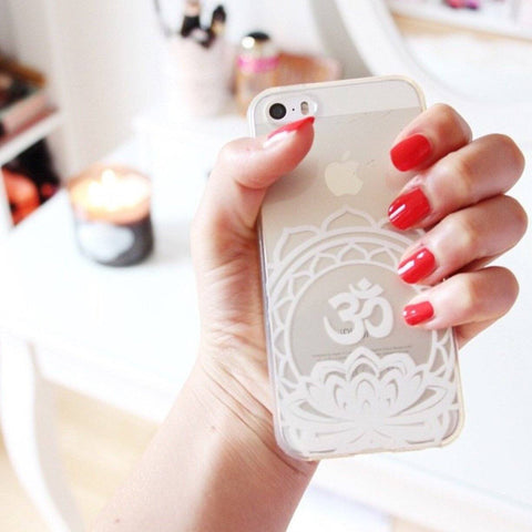 Henna Ohm Lotus Mandala - Clear TPU Case Cover