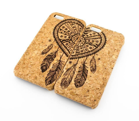 Cork Case Snap On Cover - BEST FRIENDS FOREVER / DREAMCATCHER MATCHING CASE