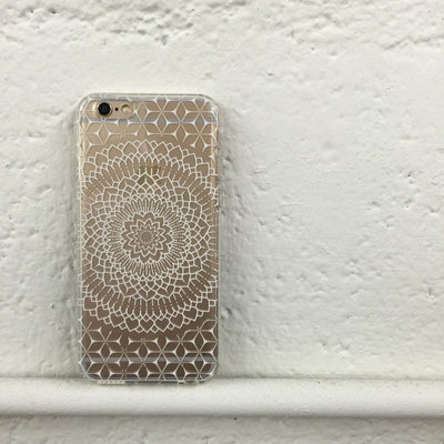 Steph Okits X Milkyway Cases Fleur Mandala - Clear TPU Case Cover - Milkyway Cases -  iPhone - Samsung - Clear Cut Silicone Phone Case Cover
