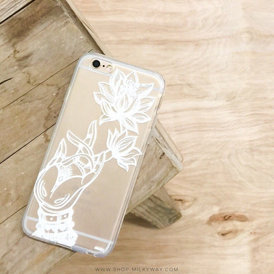 Reflection Lotus - Clear TPU Case Cover - Milkyway Cases -  iPhone - Samsung - Clear Cut Silicone Phone Case Cover