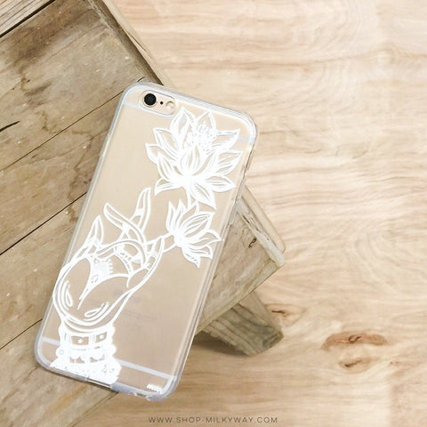Reflection Lotus - Clear TPU Case Cover