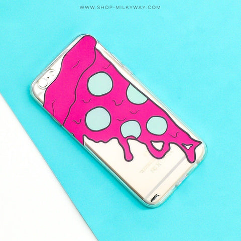 Neon Pizza - Clear TPU Case Cover