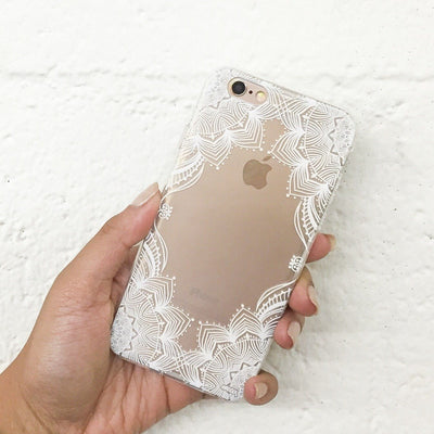 Illume Henna - Clear TPU Case Cover - Milkyway Cases -  iPhone - Samsung - Clear Cut Silicone Phone Case Cover