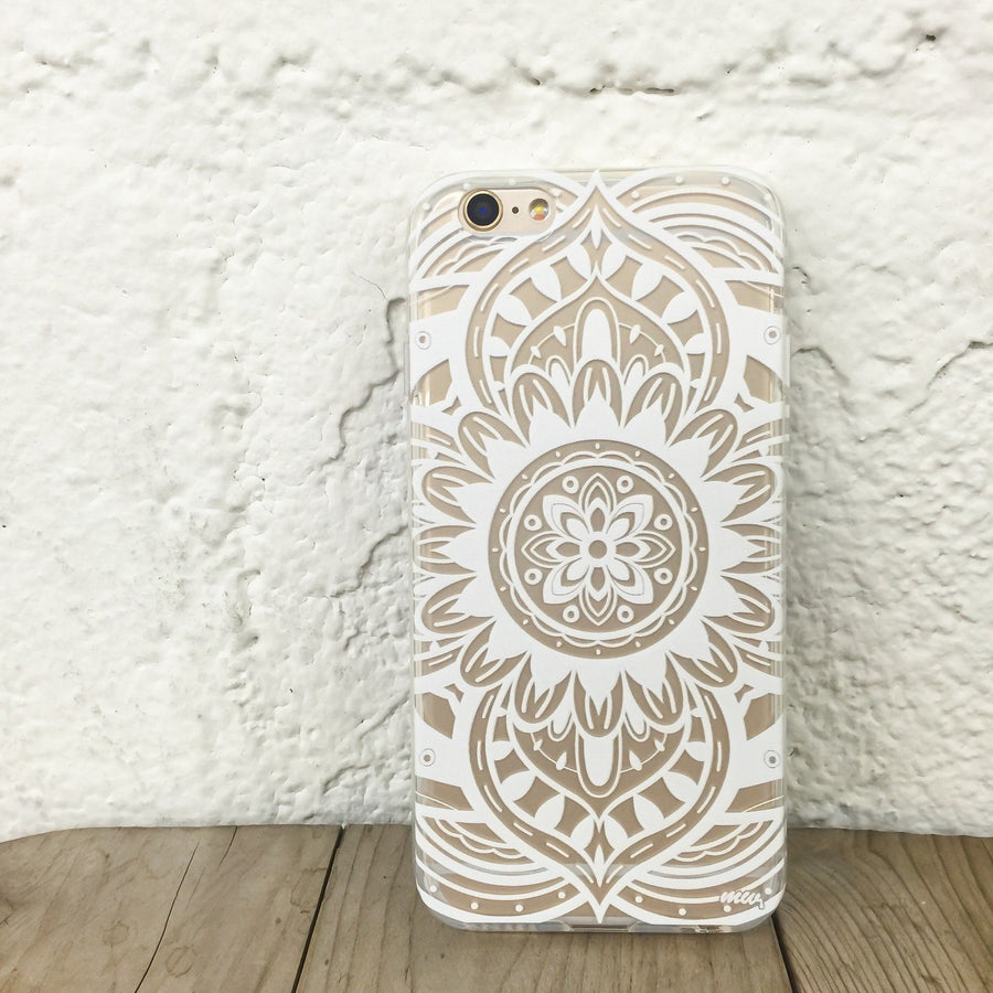 Anshi Mandala - Clear TPU Case Cover - Milkyway Cases -  iPhone - Samsung - Clear Cut Silicone Phone Case Cover