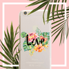 Tropical Love Clear TPU Case Cover - Milkyway Cases -  iPhone - Samsung - Clear Cut Silicone Phone Case Cover
