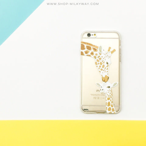 Giraffe Love - Clear TPU Case Cover