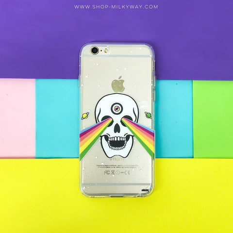 Trippy Skull - Clear TPU Case Cover
