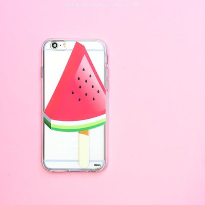 Watermelon Popsicle - Clear TPU Case Cover - Milkyway Cases -  iPhone - Samsung - Clear Cut Silicone Phone Case Cover