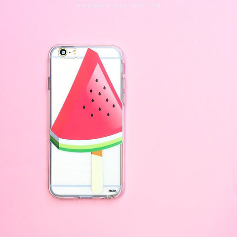 Watermelon Popsicle - Clear TPU Case Cover