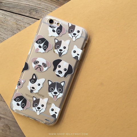 Puppy Love - Clear TPU Case Cover