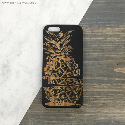 GENUINE WOOD Organic Snap On Case  - Sliced Pineapple
