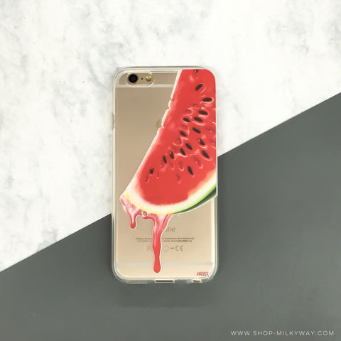 Dripping Watermelon - Clear TPU Case Cover