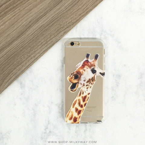 Whoa Giraffe - Clear TPU Case Cover