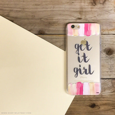 Get It Girl - Clear TPU Case Cover