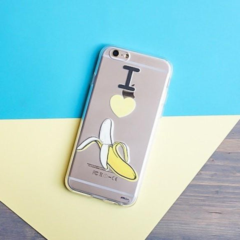 I Love Bananas  - Clear TPU Case Cover