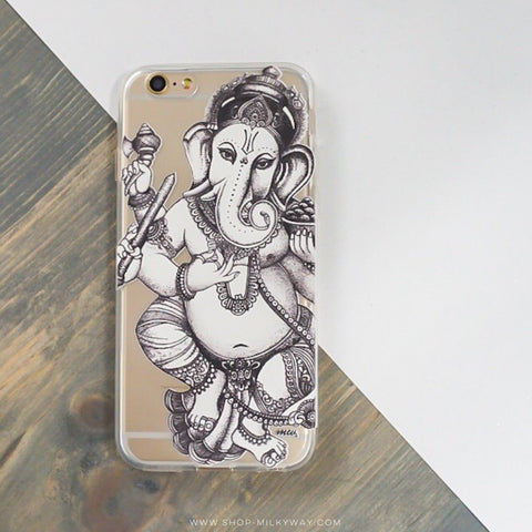 Sketch Ganesh - Clear TPU Case Cover