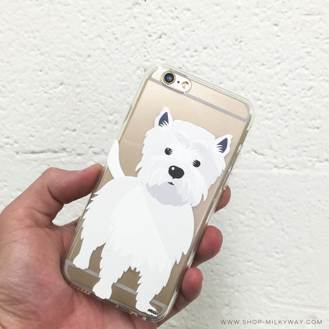 Westie - Clear TPU Case Cover
