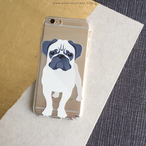 Full Pug - Clear TPU Case Cover