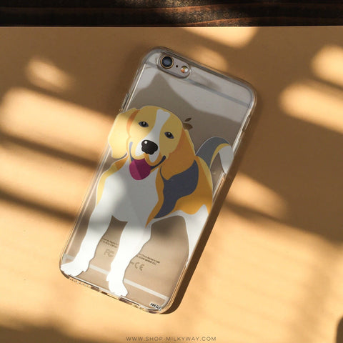 Beagle - Clear TPU Case Cover