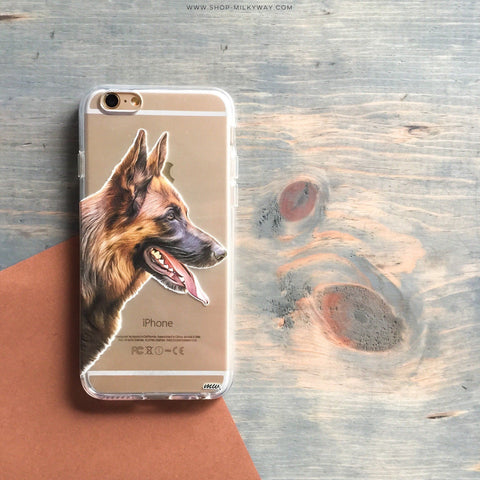 German Shepherd - Clear TPU Case Cover