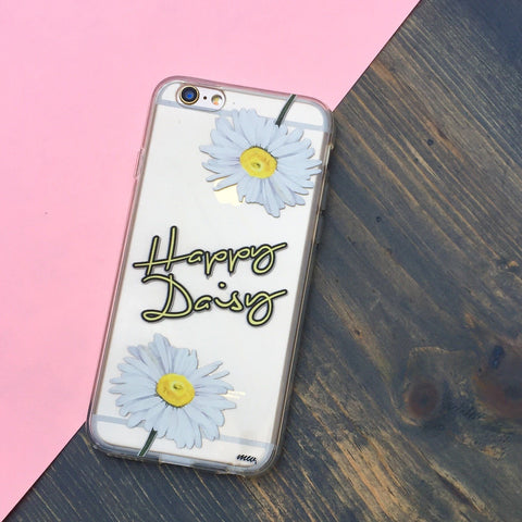 Happy Daisy - Clear TPU Case Cover