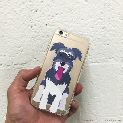 Schnauzer - Clear TPU Case Cover - Milkyway Cases -  iPhone - Samsung - Clear Cut Silicone Phone Case Cover
