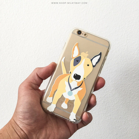 Bull Terrier - Clear TPU Case Cover