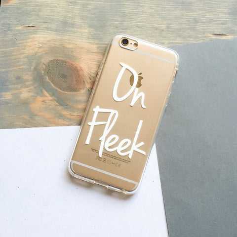 On Fleek - Clear TPU Case Cover