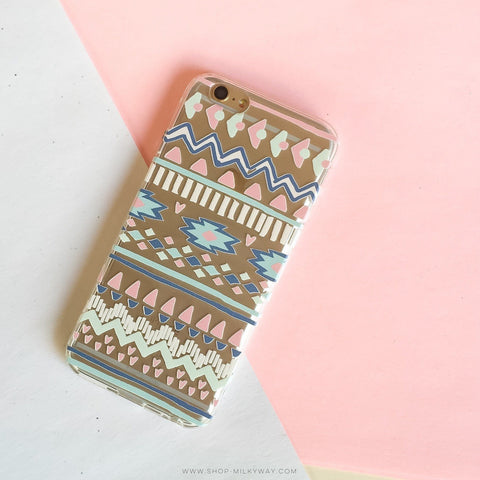 Doodle Aztec - Clear TPU Case Cover