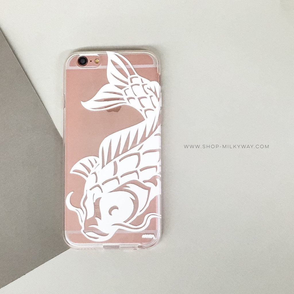 Henna Koi Fish - Clear TPU Case Cover