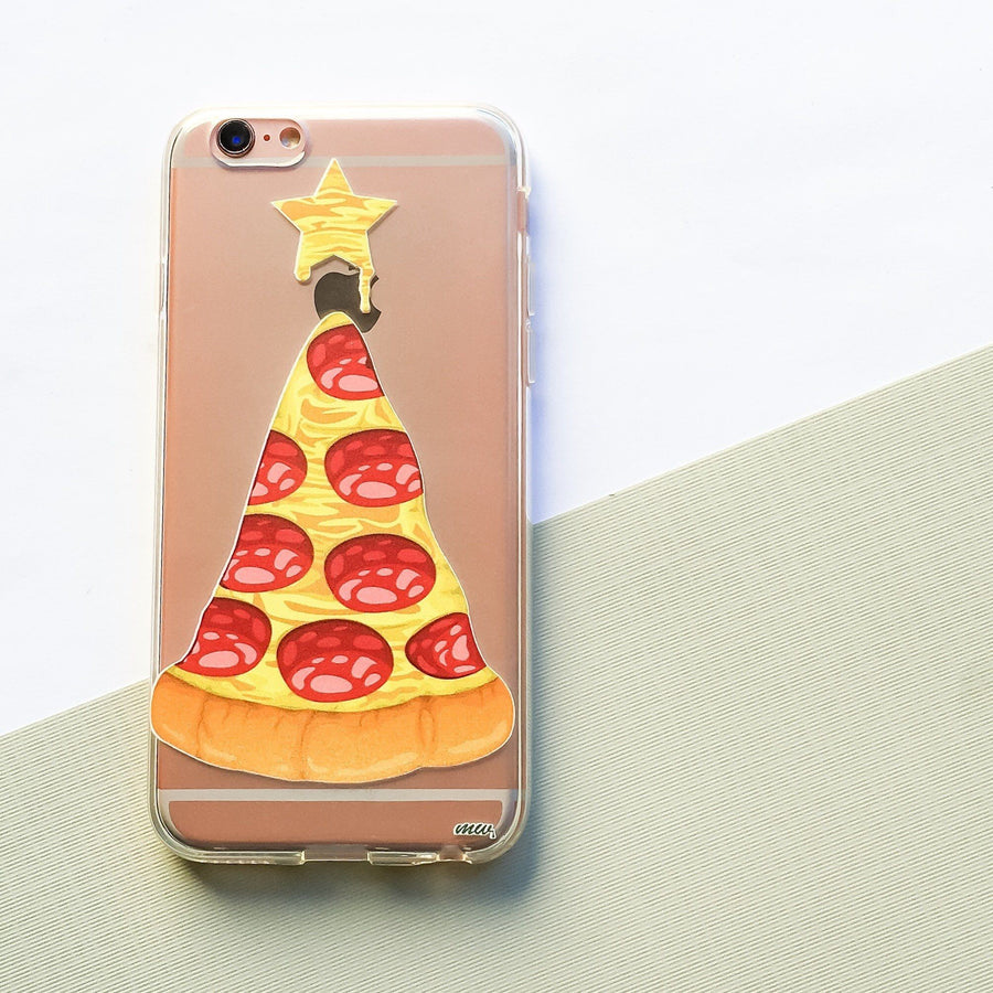 Pizza Cheesemastree - Clear TPU Case Cover - Milkyway Cases -  iPhone - Samsung - Clear Cut Silicone Phone Case Cover