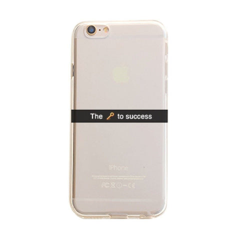 The Key To Success - Clear TPU Case Cover