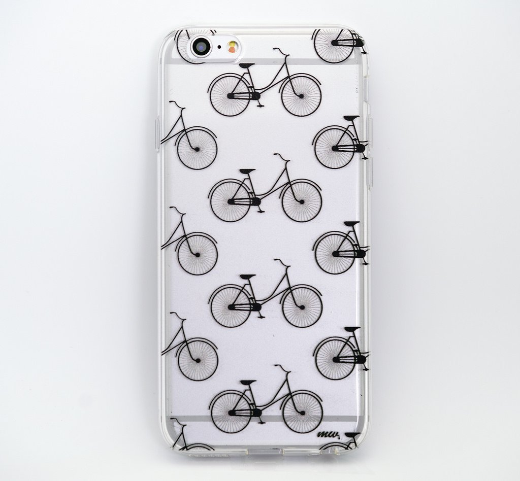 """CLEARANCE"" iPhone 6 Clear Case Cover - Hipster Bicycle"